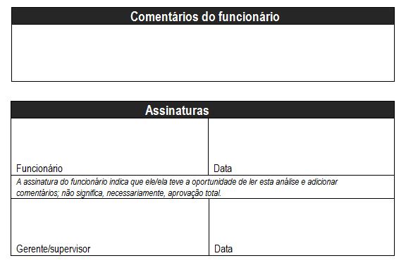 Formulário de Avaliação de Desempenho
